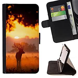 Super Marley Shop - Leather Foilo Wallet Cover Case with Magnetic Closure FOR LG Google Nexus 5 E980 D820 D821- Deer