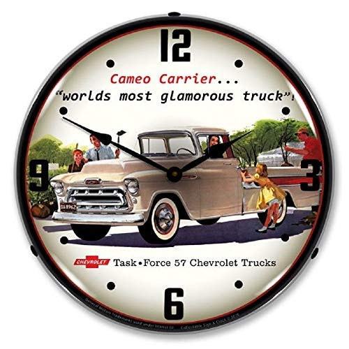 Truck 1957 Cameo Pickup Beige Chevrolet Wall Clock 14