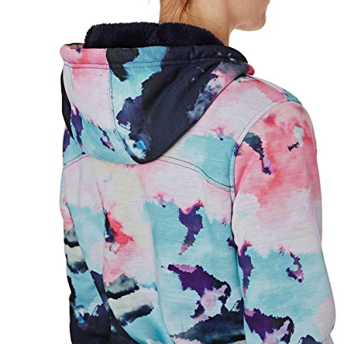 Sherpa Roxy Nine Donna Felpa Grapefruit Neon e Cloud Zip Frost Printed in con Cappuccio wSIxrSTq