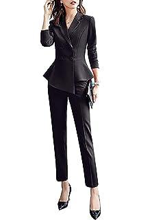 Amazon.com: Conjunto de traje de oficina para mujer, dos ...