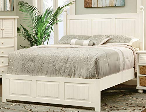 Sunset Trading CF-1701-0111-QB Ice Cream at The Beach Queen Bed, Antique White