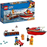 LEGO City Dock Side Fire 60213 Building Kit , New 2019 (97 Piece)