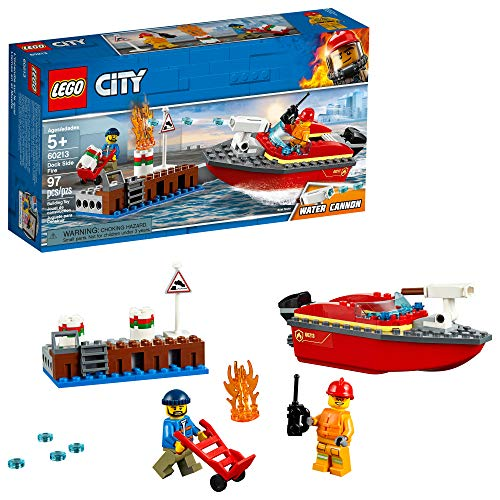 (LEGO City Dock Side Fire 60213 Building Kit , New 2019 (97 Piece))