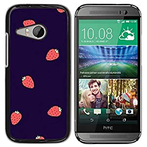 TaiTech / Hard Protective Case Cover - Berries Purple Red - HTC ONE MINI 2 / M8 MINI