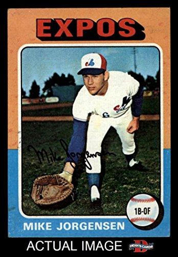 1975 Topps Mini # 286 Mike Jorgensen Montreal Expos (Baseball Card) Dean's Cards 5 - EX Expos