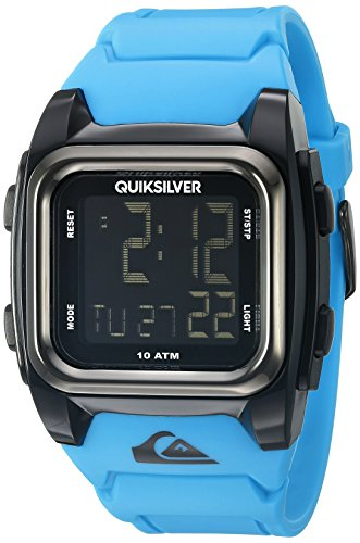 quiksilver the grom men s digital watch lcd dial digital quiksilver the grom men s digital watch lcd dial digital display and blue silicone strap qs 1020bkbl amazon co uk watches