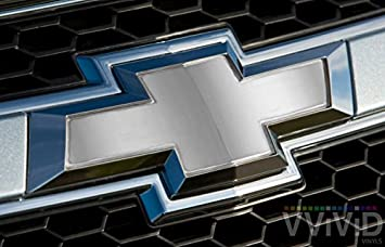 "x2 Rear Logo DIY Easy to Install 11.80/"" x 4/"" Sheets VVIVID White Matte Auto Emblem Vinyl Wrap Overlay Cut-Your-Own Decal for Chevy Bowtie Grill"
