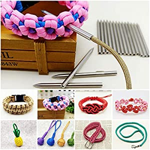 Paracord Lacing Needles Stainless Steel Needles Lacing Stitching Weaving Needles Camping & Hiking 4 Pcs by Lechay