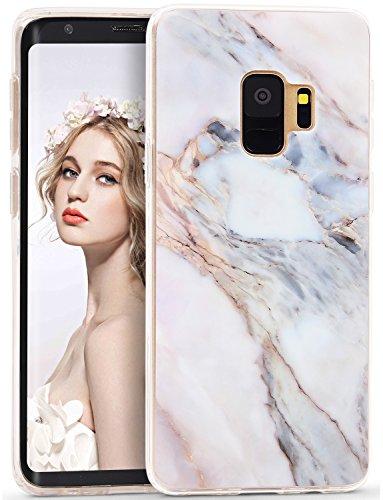 詐欺優先権エンジニアImikoko Galaxy S9 ケース おしゃれ かわいい 衝撃 tpu 大理石 マーブル マット