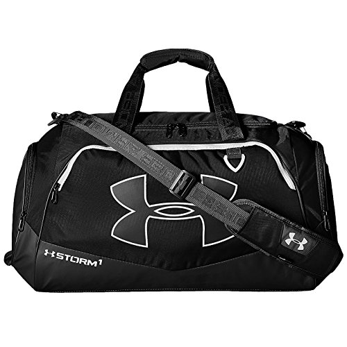 Under Armour Undeniable Duffle 2.0 Gym Bag, Black /White, Medium (Under Armour Basketball Bag)