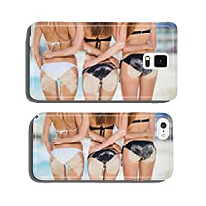 Three sexy women's butt in the sand on the beach. cell phone cover case iPhone6