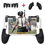 Mobile Game Controller[Upgraded Version]CIKE,Sensitive Shoot and Aim Buttons L1R1 for Knives Out/PUBG/Rules of Survival, Mobile Gaming Joysticks for Android IOS(Game triggers+controllers-2)