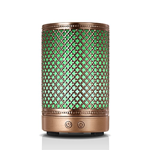 (Aromatherapy Essential Oil Diffuser Humidifier, Vintage Metal Ultrasonic Cool Mist Humidifier for Essential Oils from Ominihome, Waterless Auto Shut-off Aroma Diffuser Humidifier (mesh) )