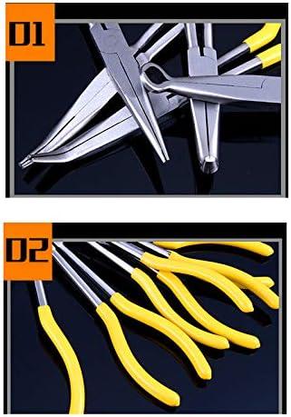 Pince Extra-Longue Outil de r/éparation de Nez incurv/é /à 90 degr/és ou en Forme de O TINGB Pince Longue /à Bec recourb/é inclin/é /à 90 degr/és