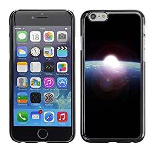 LECELL -- Funda protectora / Cubierta / Piel For Apple iPhone 6 -- Sunrise From Space --