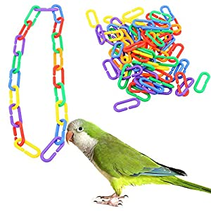 Hooks Bird Toy - Plastic C-clips Hooks - Plastic, Environmental And Non-Toxic Material - Safe Toy - Use for Hanging Bird - Great Toy for Your Pet