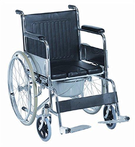 EmsiG Steel Folding Commode Wheelchair LTD
