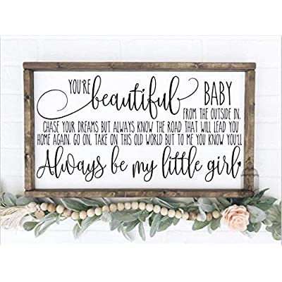 Flowershave357 Always be My Little Girl Little Girls Bedroom Sign Nursery Decor Nursery Sign Bedroom Decor: Home & Kitchen
