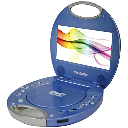 SYLVANIA SDVD7046-BLUE 7'''' Portable DVD Players with Integrated Handle (Blue) Computers, Electronics, Office Supplies, Computing by Sylvania