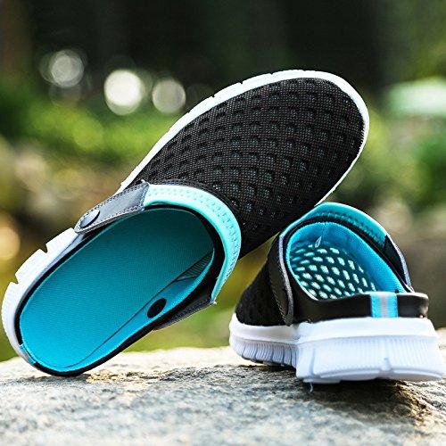 dérapant Anti Taille Plage Moitiés Lazy 45 black Slippers Sandales Xing Ensemble Nid Mesh D'été Pieds 45 Nouveau De Grande Guang Et Chaussures Hole Pantoufles Black 4aUZqaTzFn