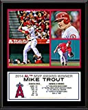 """Mike Trout Los Angeles Angels of Anaheim 2014 American League MVP 12"""" x 15"""" Sublimated Plaque - Fanatics Authentic Certified"""