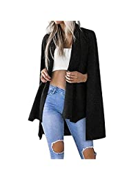 Muranba Clearance Women Ladies Solid Lapel Stylish Blazer Trench Coat