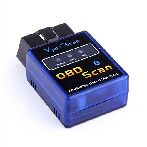 OBDII Bluetooth OBD2 scan tool OBD2 Bluetooth Adapter Car Diagnostic Scanner Code Reader Check Engine Light for Android ONLY-Compatible with Torque Pro by Welltops (Image #1)'