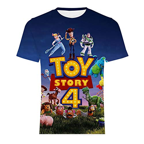 Oxking Women and Men Unisex Family Comedy Movie Summer 3D Graphic Print T-Shirt Toy Story 4 ZDY04 3XL