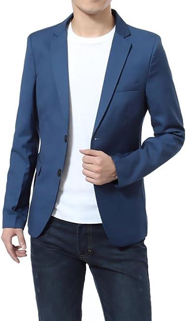 Lannister Fashion Blazer Hombre Elegantes Casual Slim Fit Cuello Solapa Chaquetas Negocios Office Wear Ropa Chaqueta Americana Amazon Es Ropa Y Accesorios