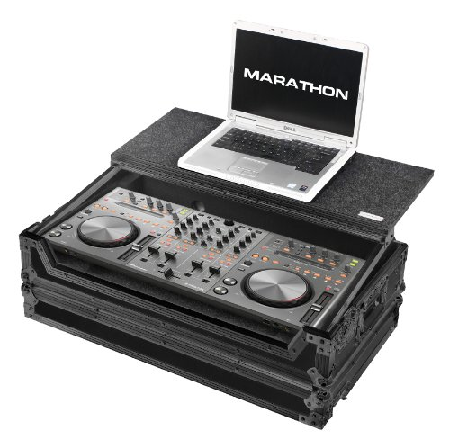 [해외]마라톤 비행로드 케이스 MA-DDJLTBLK 1X 파이 오 니 아 DDJ-T1 Traktor DDJ-S1 Serato Itch 노트북 선반, 검정색/Marathon Flight Road Case MA-DDJLTBLK for 1X Pioneer DDJ-T1 Traktor DDJ-S1 Serato Itch with Laptop Shelf, Black