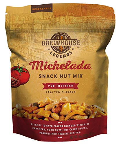 Brewhouse Legends Michelada Snack Nut Mix, 5 Ounces, Pack of 6