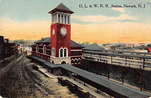 Newark New Jersey DL and W RR Train Station Vintage Postcard J2531336