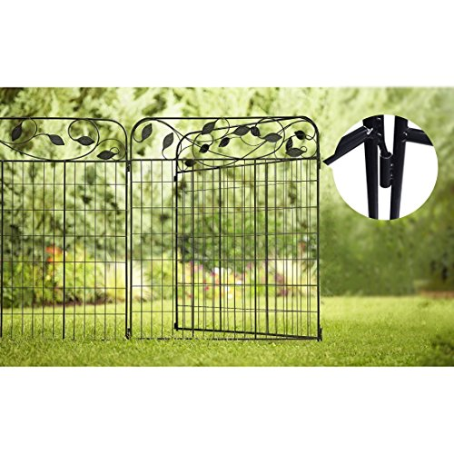 Amagabeli Decorative Garden Fence 44in X 6ft Coated Metal