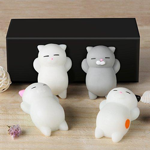 Squishies Animal  4 Pcs Kawaii Squishies Cat   Mochi Squishy Toys With Box For Kids