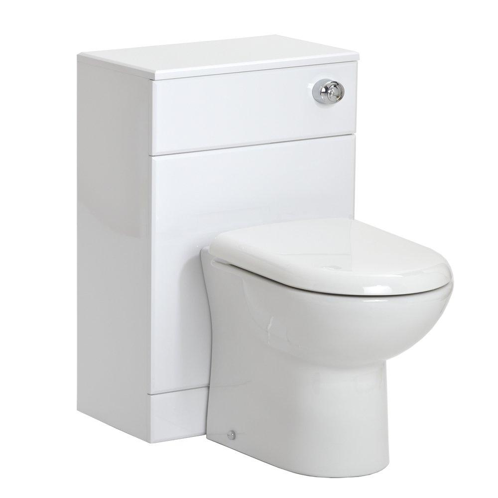 Bathroom White Gloss Back To Wall Toilet Vanity Unit 500mm 500(w) X 330(d):  Amazon: Diy & Tools