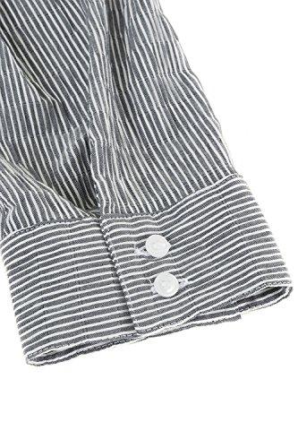Girl Noir Tailles Dames Lache Profond V Grandes V Sexy Blouse en Blouse Casual Femmes Chemisier Tops Chemises Femme 697563 Mode Femmes Mousseline Ulla 2018 Popken Zipper pour IqwCtfxSF
