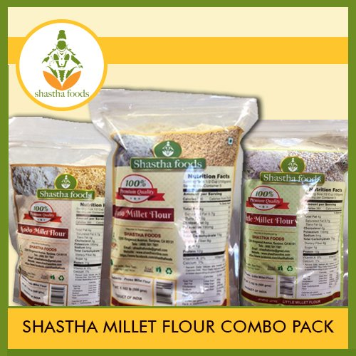 SHASTHA MILLET FLOUR COMBO (CONTAINS 6 ITEMS) EACH PKT 500 GMS