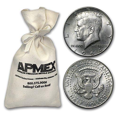 Half Dollar Coin Values - 1964 Silver Kennedy Half-Dollars $100 Face-Value Bag (1964) Half Dollar Very Good