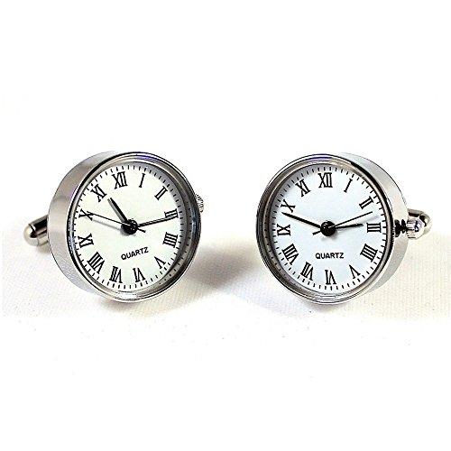 - Functional Watch Cufflinks Quartz Clock Gift Wedding Time Piece