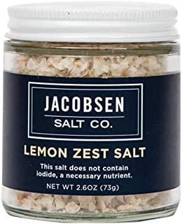 product image for Jacobsen Salt Co. Specialty Sea Salt for Fancy Gourmet Cooking, Infused Sea Salt, Lemon Zest Flavored, 2.7 Ounce