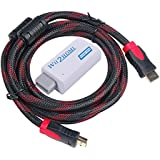 Wii to HDMI Converter, WOVTE Real 720P / 1080P Wii To HDMI Switch Converter Adapter + High Speed HDMI Cable 6.5 Feet