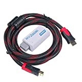 WOVTE Wii to HDMI Converter Real 720P 1080P HD Output Video Audio Converter Adapter with High Speed HDMI Cable 6 ft Supports All Wii Display Modes