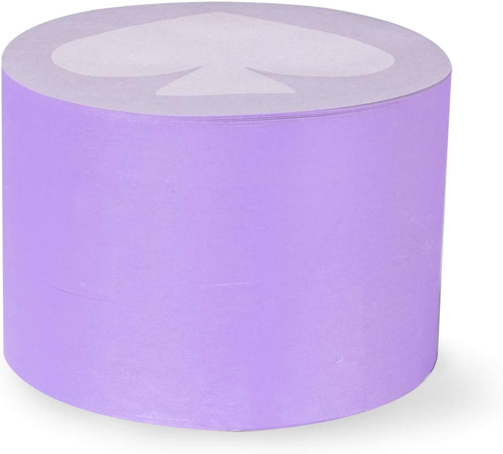 Kate Spade New York Round Sticky Note Stack with 570 Sheets, Purple Spade