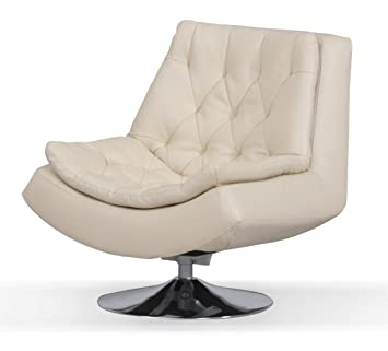 capella bonded and faux leather iris swivel chair with metal base