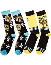 Spongebob Squarepants Men's 2-Pack Crew Sock