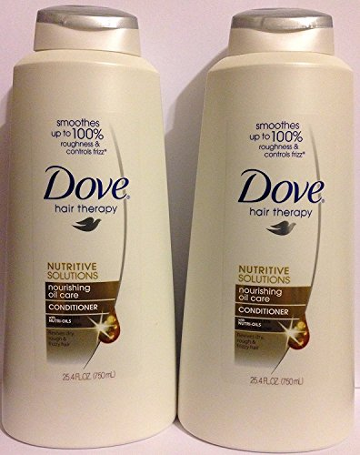 (Dove Hair Therapy - Nourishing Oil Care - Conditioner - Net Wt. 25.4 FL OZ (750 mL) Per Bottle - Pack of 2)