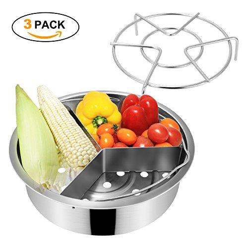 Instant Pot Accessories, Steamer Basket Rack Se...