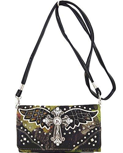 Mujer Pu Clásico Ropa Bolso Elegante Handbad Bolsa patrón Wallet De Cama Blancho negro Cuero pXtxwq8p