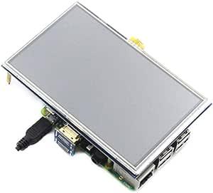 5 inch LCD HDMI Touch Screen Display TFT LCD Panel Module 800 * 480 for Raspberry Pi 4 Model B 3B+/3B/2B/B+