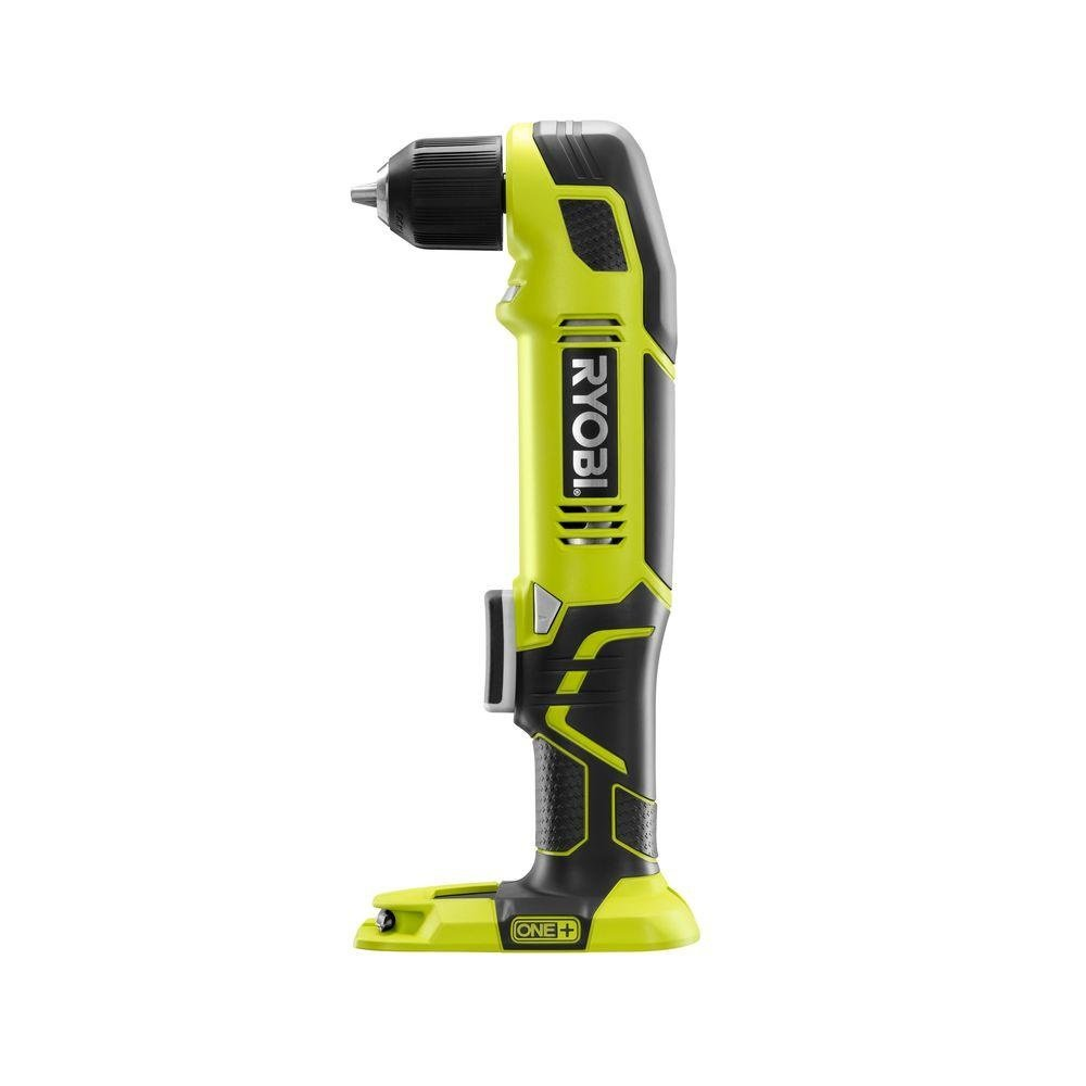 Ryobi P241 One 18 Volt Lithium Ion 130 Inch Pounds 1,100 RPM 3 8 Inch Right Angle Drill Battery Not Included, Power Tool Only